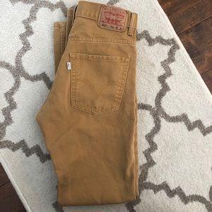 Levi's 511 denim khaki pants 16reg w28l28 28/28
